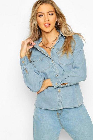 Light blue Denim Western Shirt