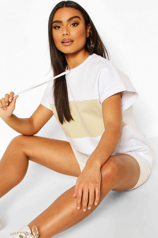 Womens Sweatshirt im Farbblock-Design - Weiß - 34, Weiß - Boohoo.com