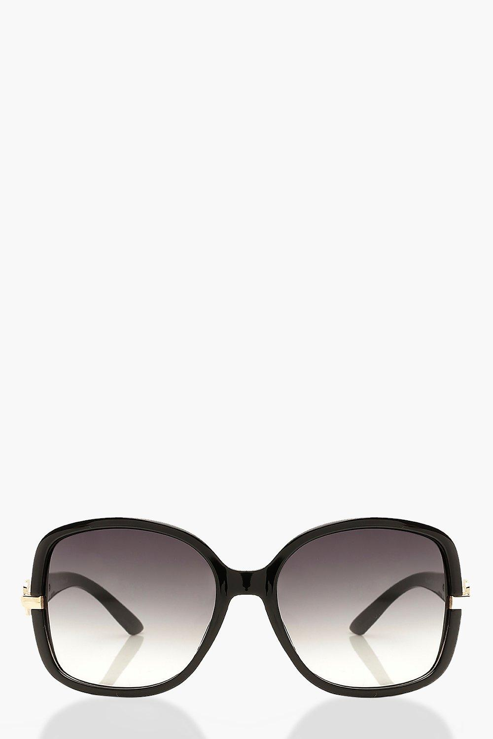 boohoo Womens Oversized Chain Detail Sunglasses - Grey - One Size, Grey