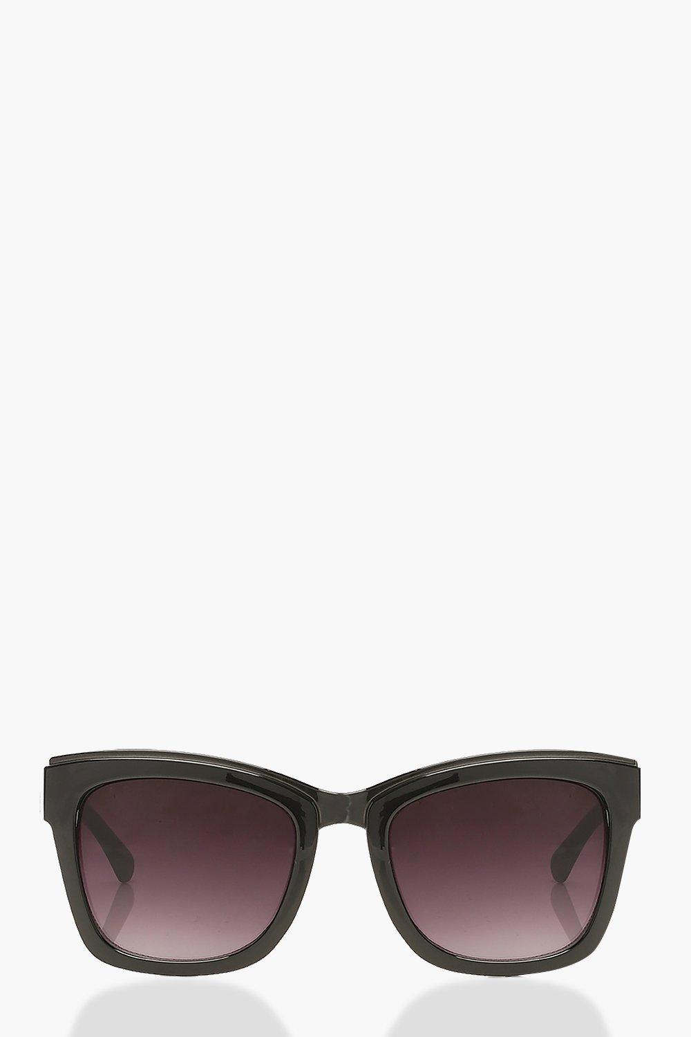 boohoo Womens Square Sunglasses With Arm Detail - Black - One Size, Black