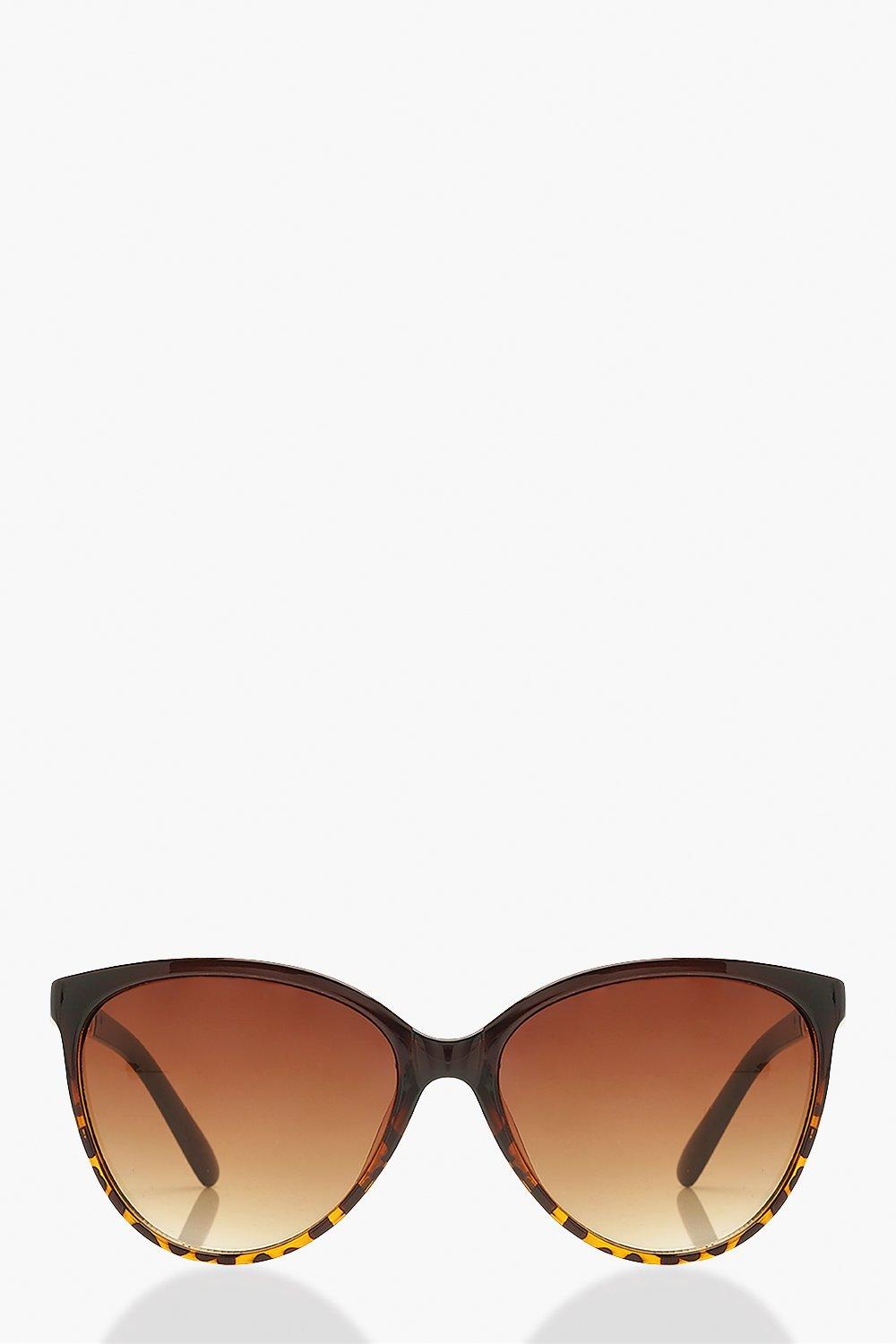 boohoo Womens Chain Detail Sunglasses - Brown - One Size, Brown