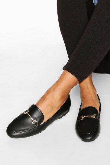 Cream T Bar Basic Loafers