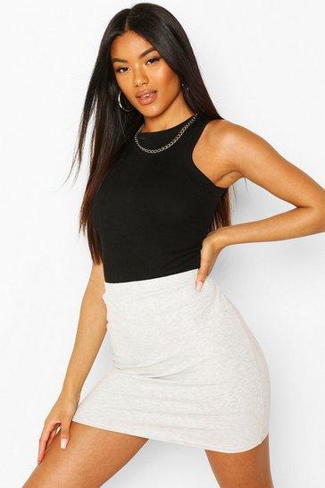 Grey marl Core Basic Jersey Mini Skirt