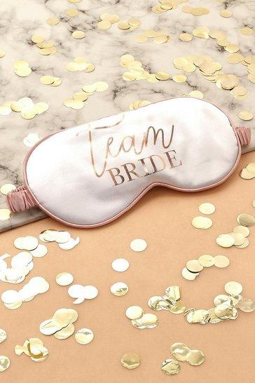 Cream Team Bride Satin Sleep Mask