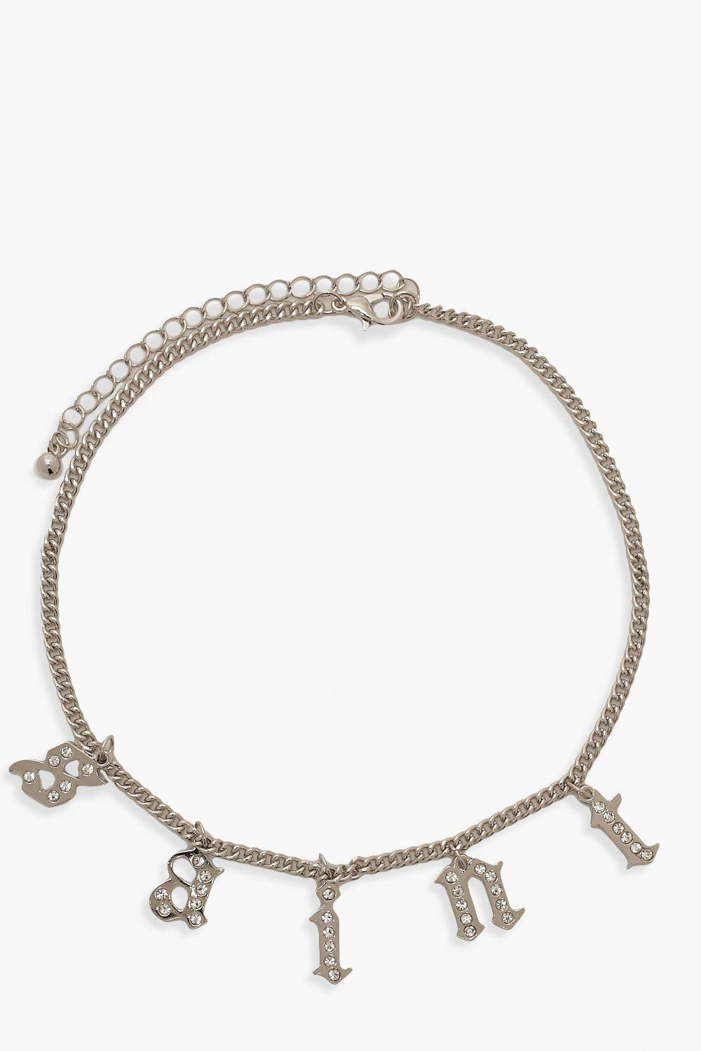 boohoo Womens Saint Choker - Grey - One Size, Grey