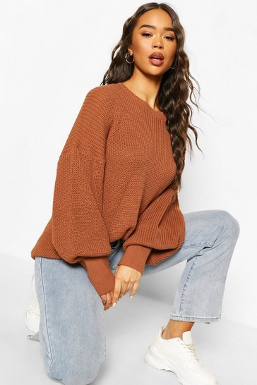 Toffee Oversized Knitted Jumper