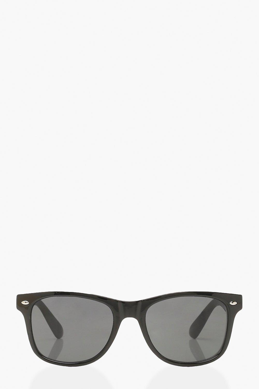 boohoo Womens Classic Wayfarer Style Sunglasses - Black - One Size, Black