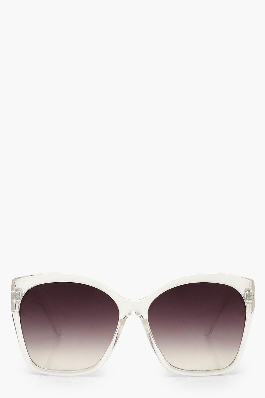 boohoo Womens Oversized Sunglasses - White - One Size, White