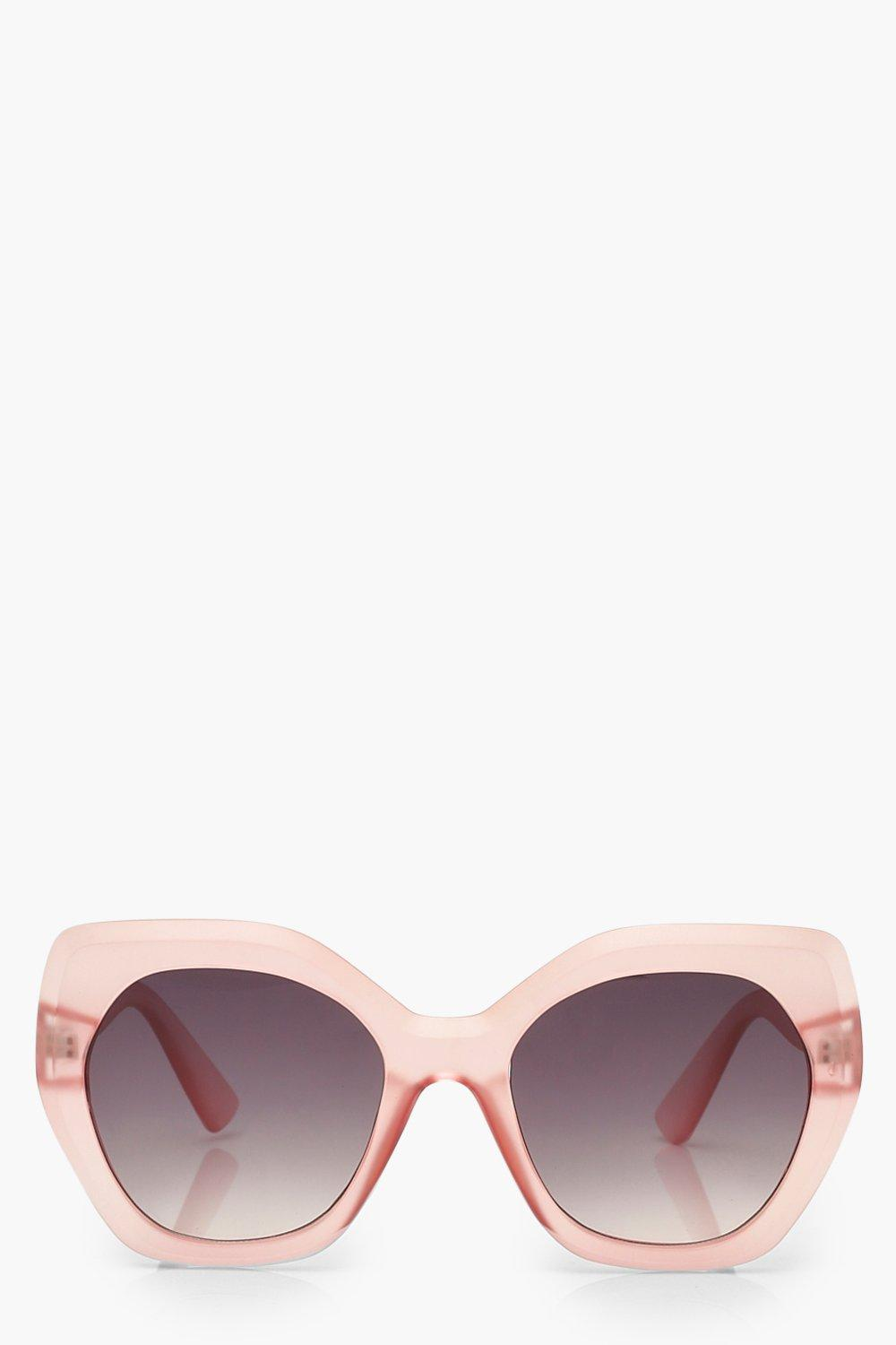 boohoo Womens Frosted Oversized Sunglasses - Pink - One Size, Pink