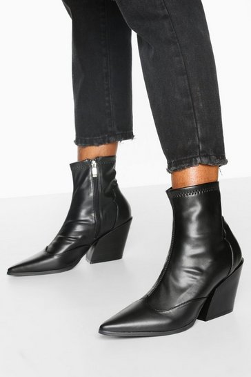 Black Pointed Western Boots