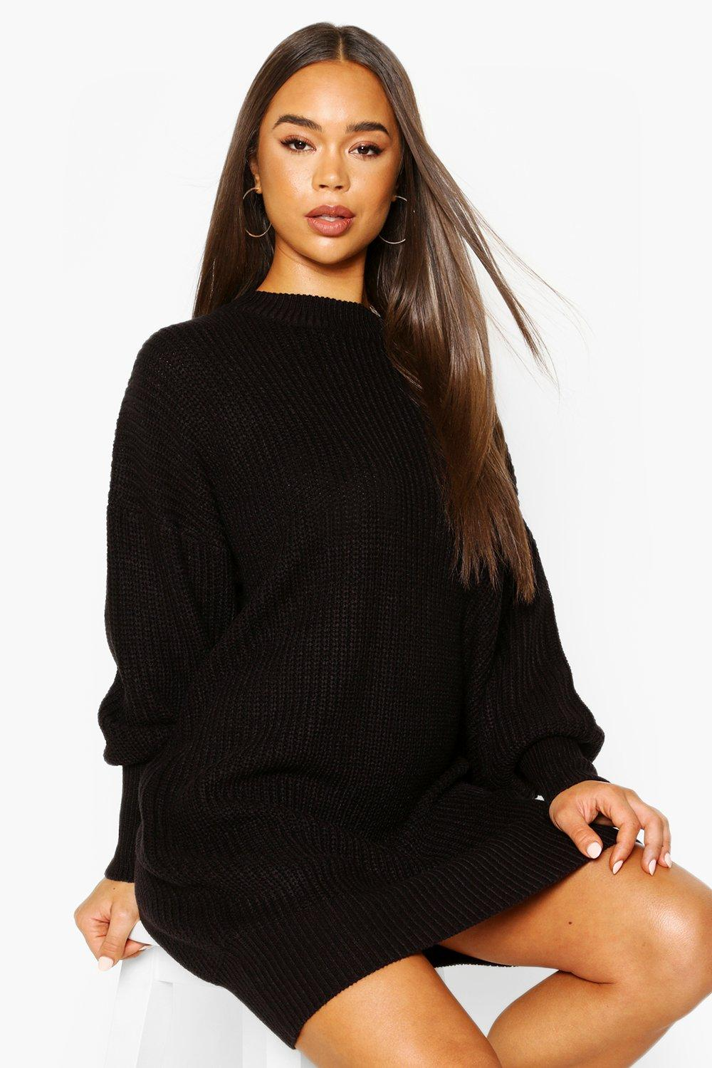 Extreme Oversized Crew Neck Knitted Dress фото