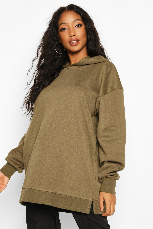Womens Extreme Oversized Hoody - khaki - XL, Khaki - Boohoo.com