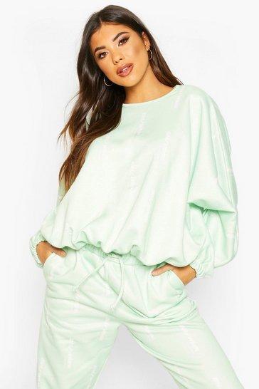 Sage Woman Oversized Sweatshirt