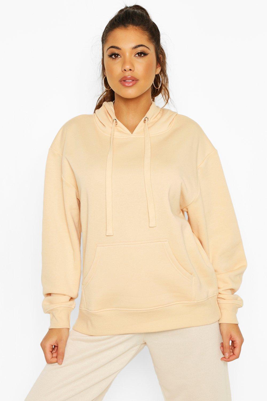 Womens Fleece Oversized Hoody - camel - 34, Camel - Boohoo.com