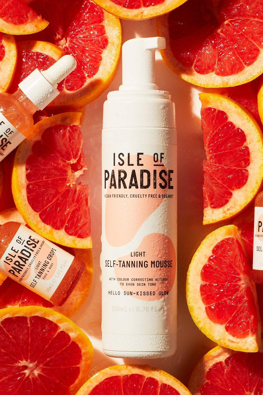 Isle of Paradise Womens Isle Of Paradise Self Tanning Mousse Light - Brown - One Size, Brown