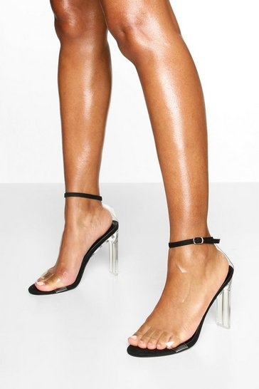 Black Clear Flat Heel 2 Parts