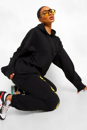 Black The Mix & Match Oversized Hoodie