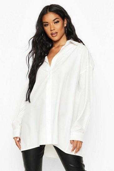 White Extreme Oversized Shirt
