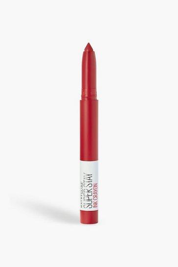 Red Maybelline Superstay Crayon 45 Hustle In Heels