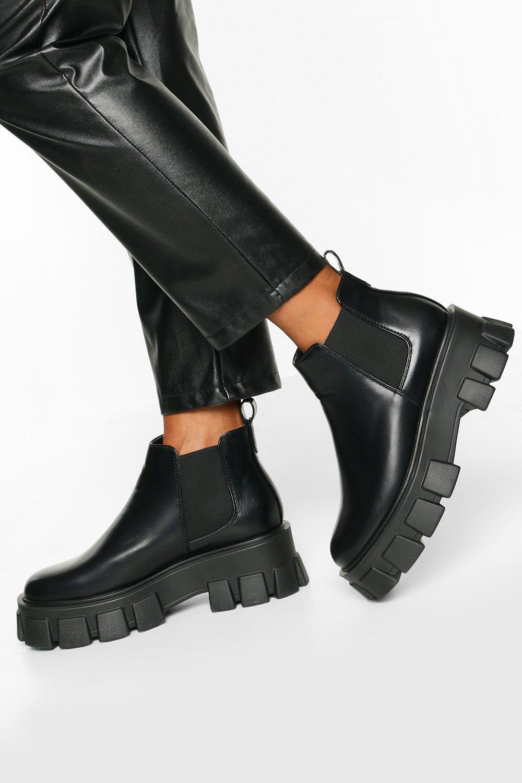 boohoo Casual Chelsea Boots Met Profielzool