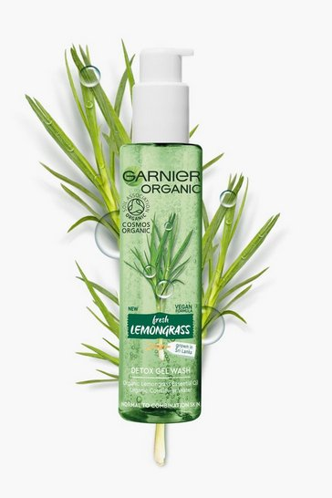 Clear Garnier Organic Lemongrass Wash 150ml Vegan