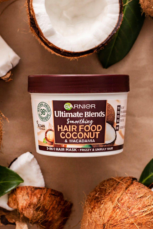 Garnier Womens Garnier Ultimate Blends Hair Food Mask Coconut 390Ml - White - One Size, White