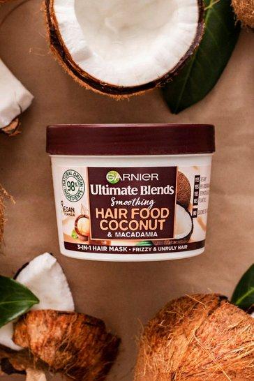 White Garnier Ultimate Blends Hair Food Mask Coconut 390ml
