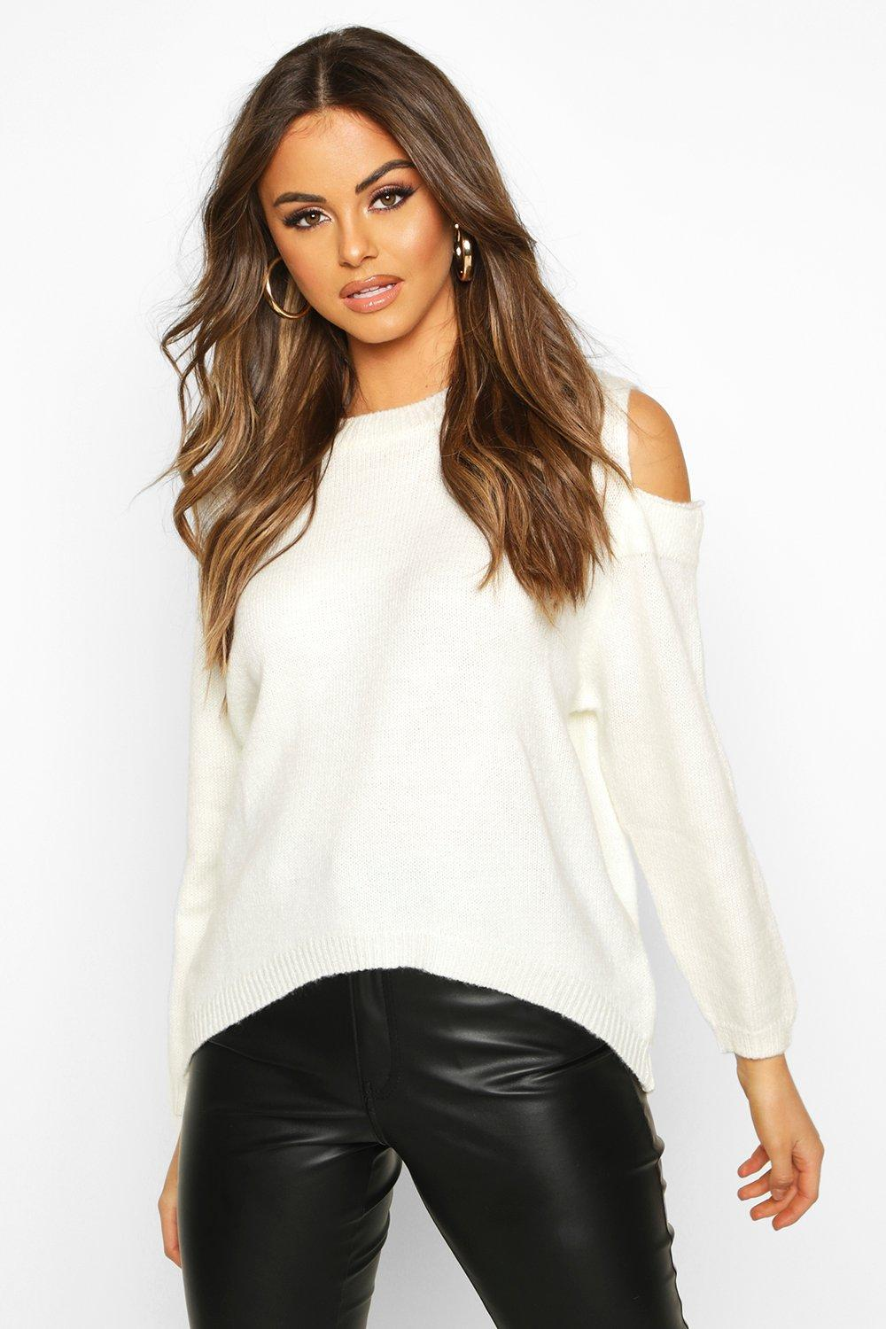 Womens Oversized-Pullover - creme - S, Creme - Boohoo.com