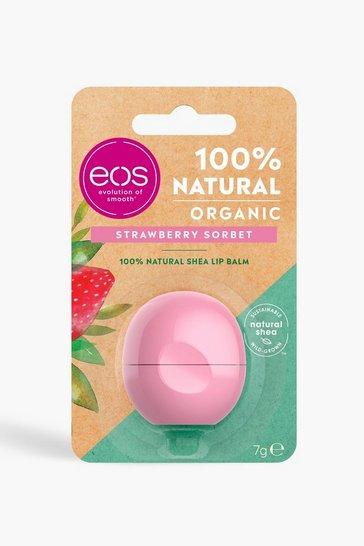 Pink EOS Organic Strawberry Sorbet Lip Balm