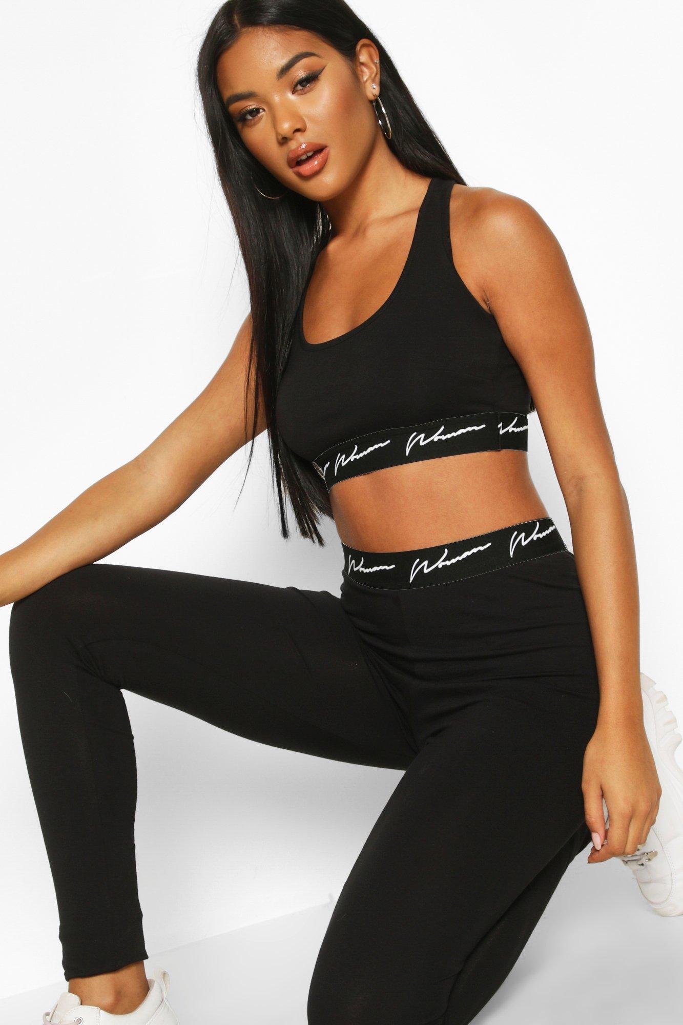 Gym Wear Woman Tape Jersey Sport Set