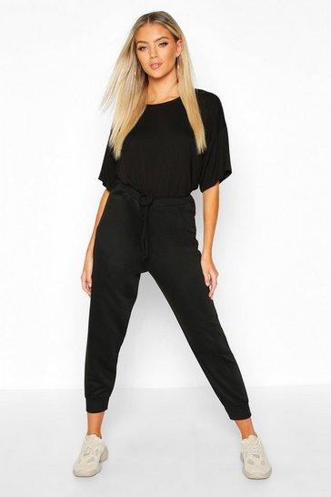 Black Oversized T-Shirt & Jogger Co-Ord