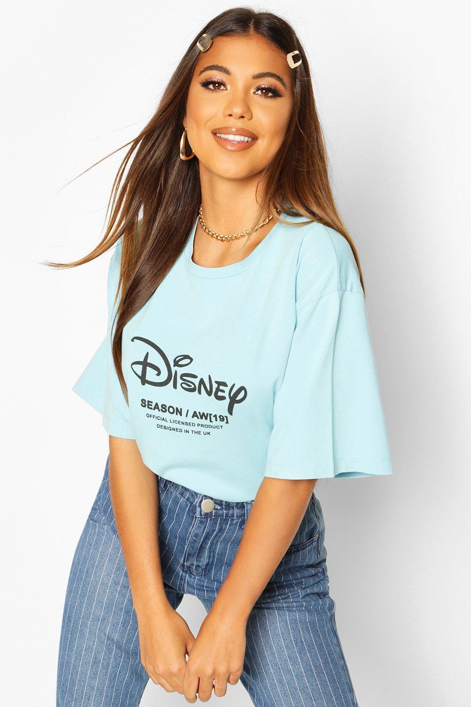 "Womens Batik-T-Shirt mit ""Disney Princess Ariel""-Motiv - Blau - 32, Blau - Boohoo.com"