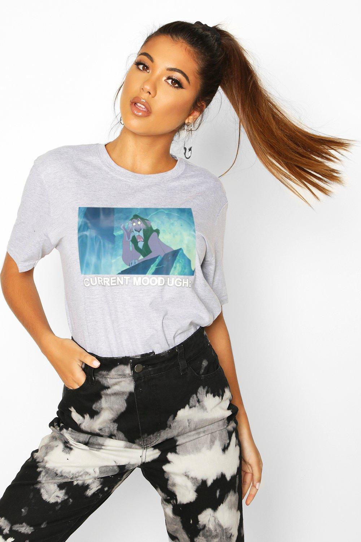 """Womens T-Shirt mit """"Disney Lion King""""-Motiv - grau - 34, Grau - Boohoo.com"""