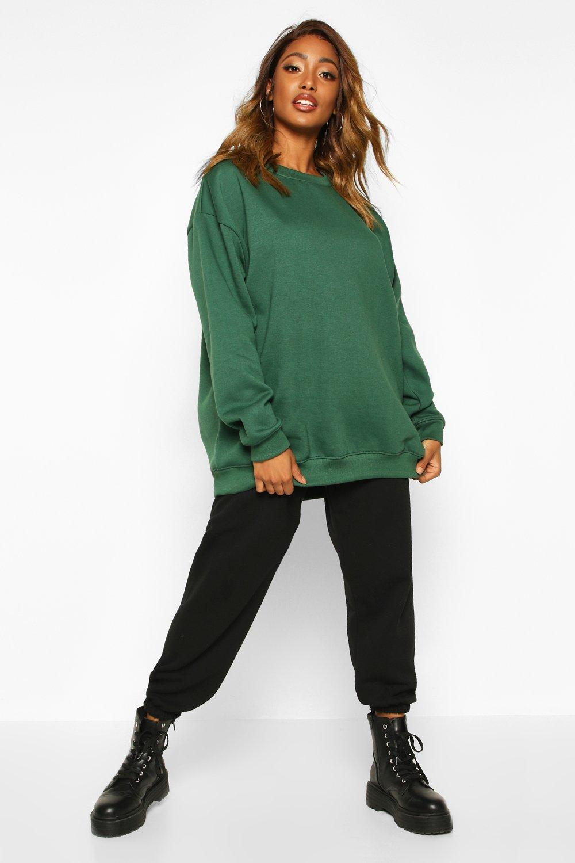 Womens Oversized Boyfriend-Sweatshirt - khaki - 32, Khaki - Boohoo.com