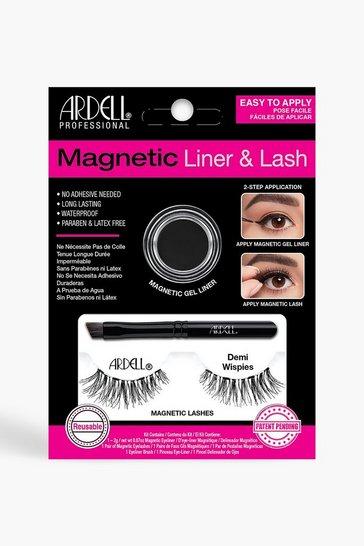 Black Ardell Magnetic Demi Wispies Lash Kit