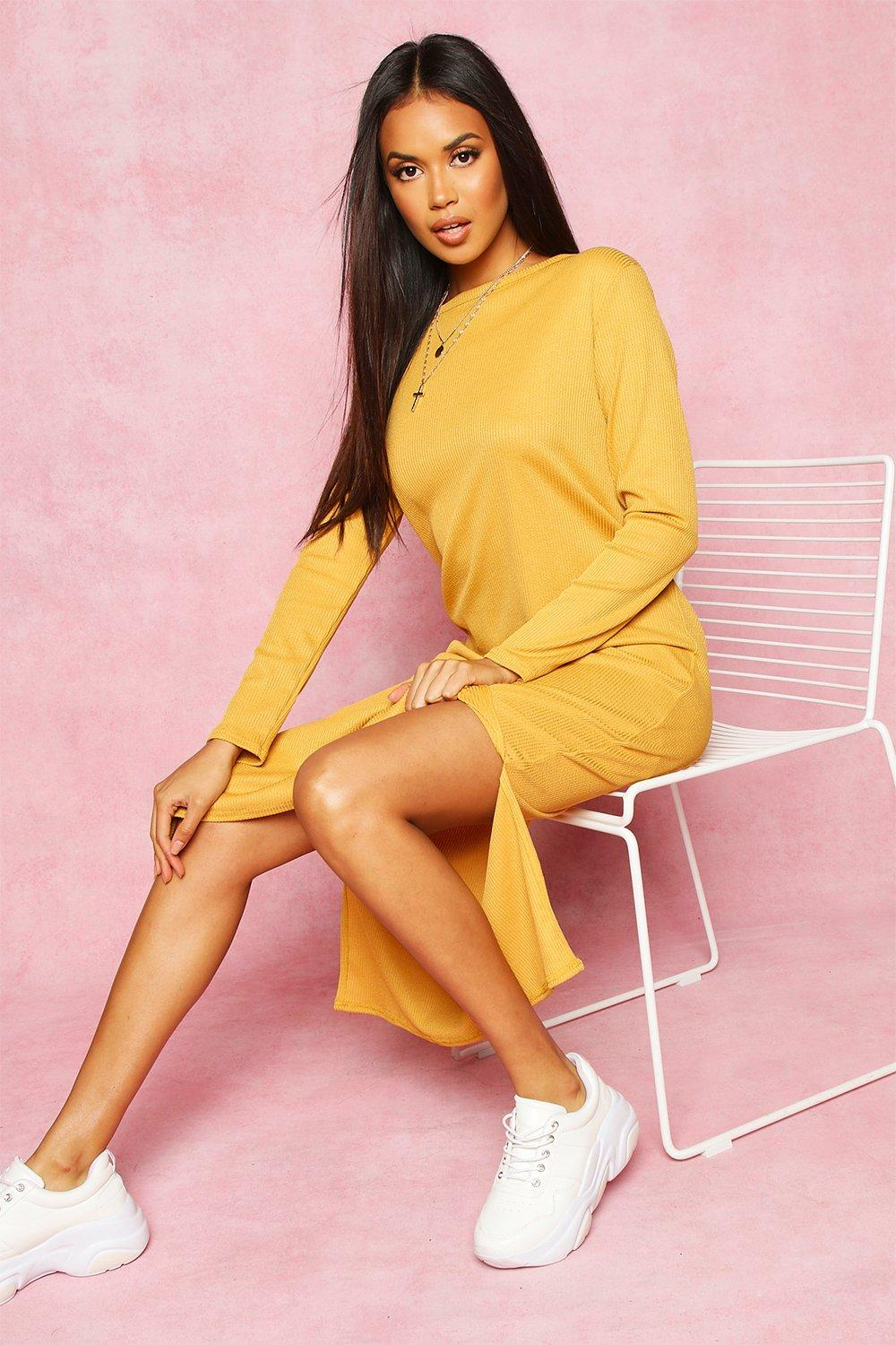 Don't Miss Out Recycled Rib Side Split Tunic