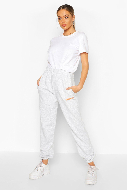 "Womens Jogginghose mit ""Nashville""-Slogan - Grau meliert - S, Grau Meliert - Boohoo.com"