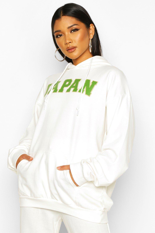 "Womens Hoodie mit aufgedrucktem Slogan ""Japan"" - Naturfarben - S, Naturfarben - Boohoo.com"