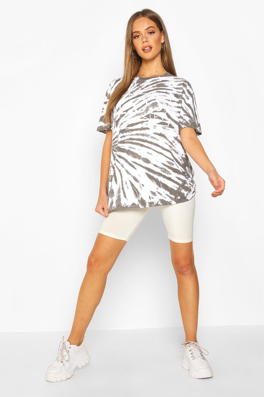 "Womens Batik-T-Shirt mit ""Los Angeles""-Grafik - anthrazit - S, Anthrazit - Boohoo.com"