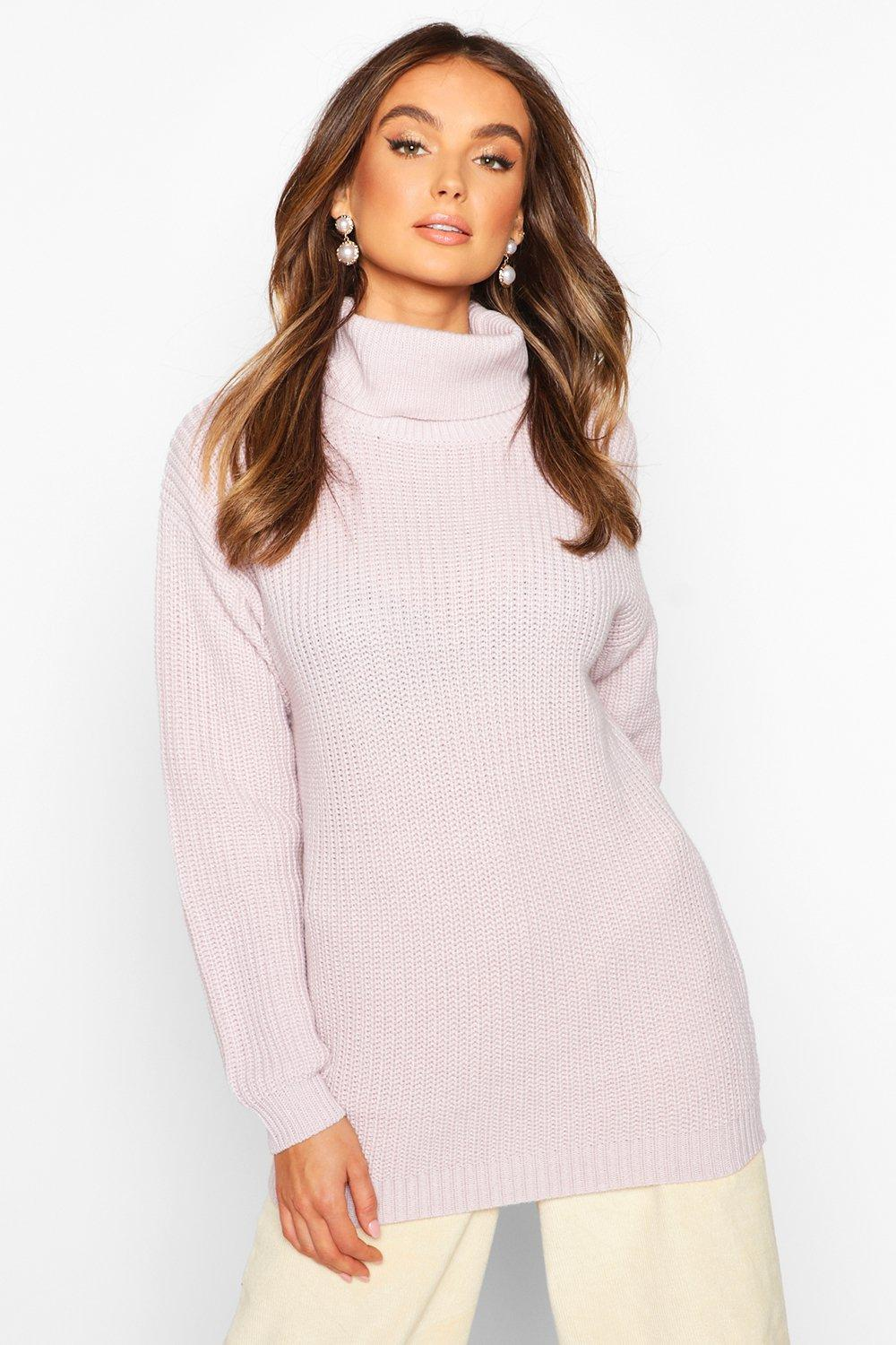 Don't Miss Out Fisherman Roll Neck Jumper