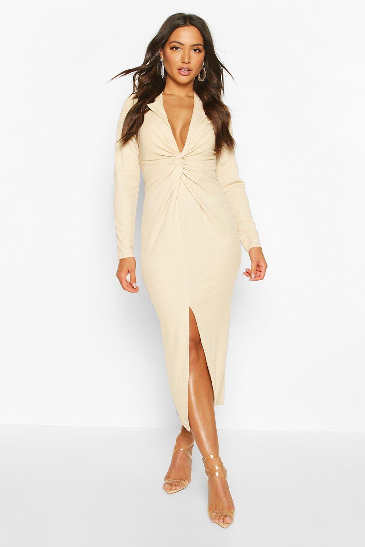 £5 Dresses Twist Front Detail Midi Dress
