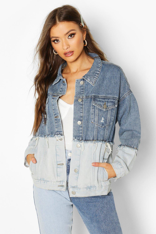 SALE Contrast Oversize Denim Jacket
