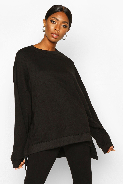 Womens Extra Oversized Pullover - schwarz - S, Schwarz - Boohoo.com