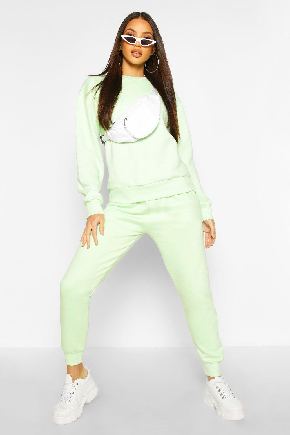 Womens Basic Jogginghose - lime - 36, Lime - Boohoo.com
