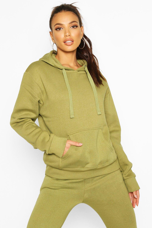 Womens Oversized Hoodie - olivgrün - 40, Olivgrün - Boohoo.com
