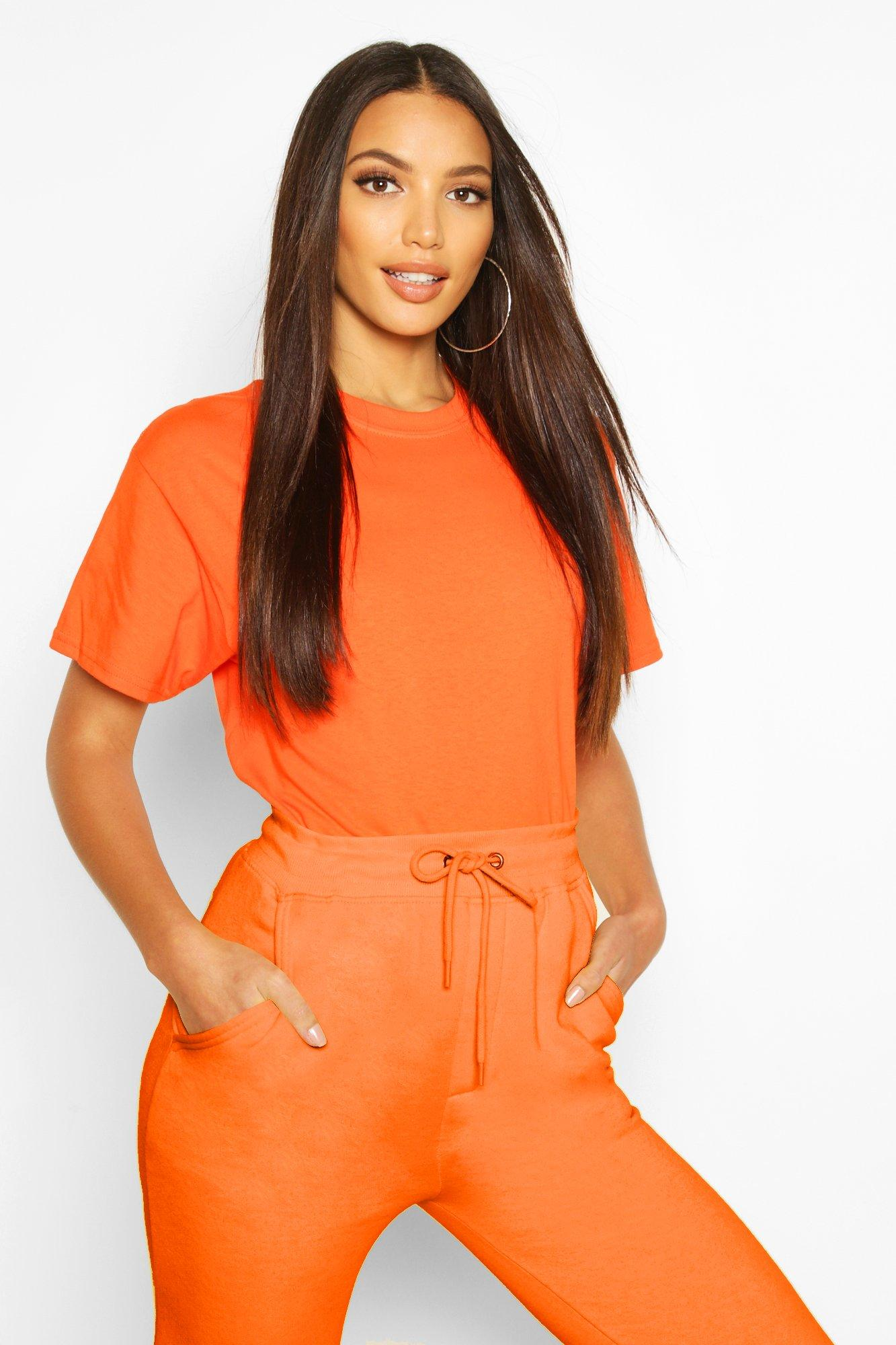 Womens Oversized T-Shirt - orange - L, Orange - Boohoo.com