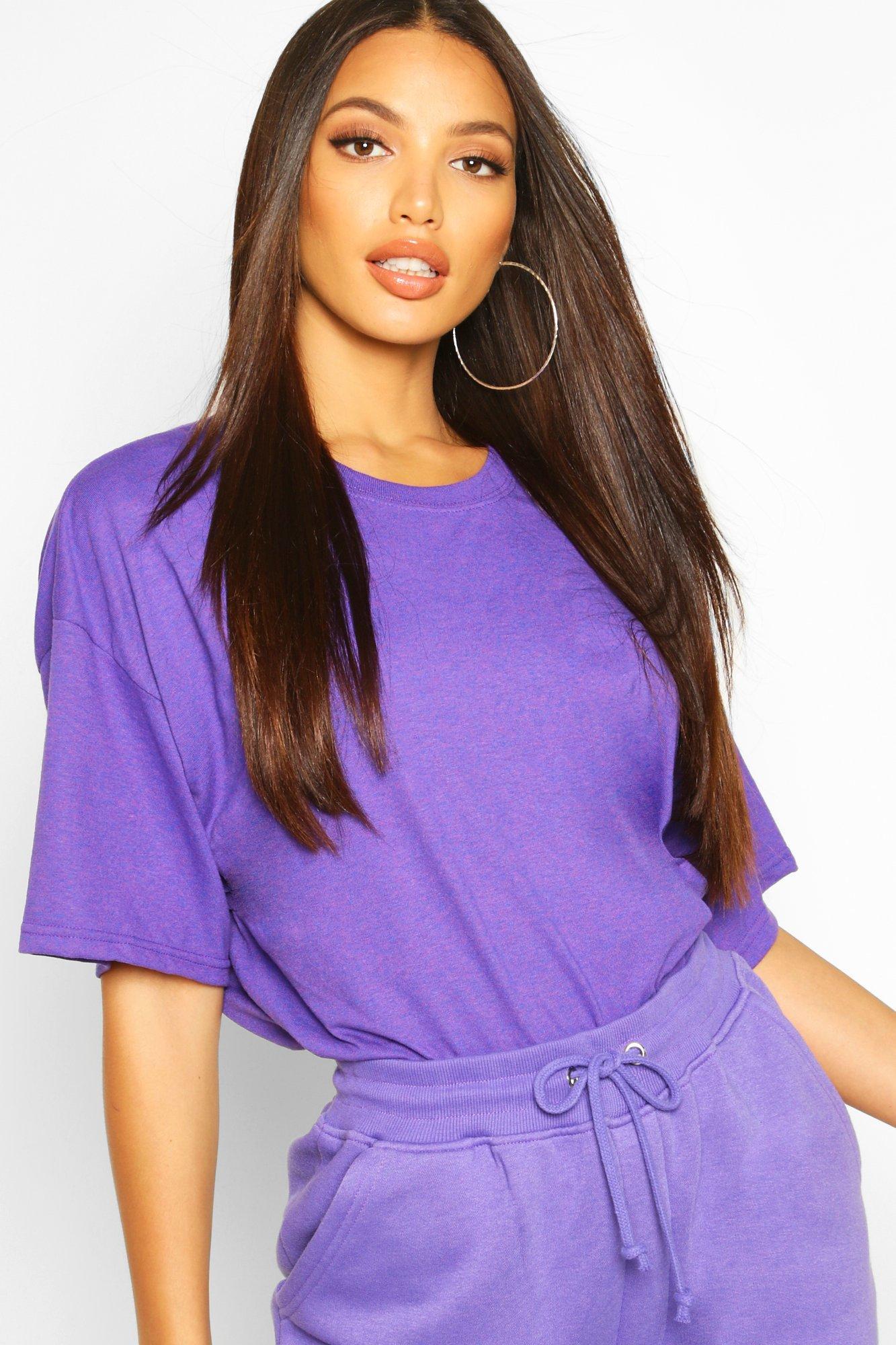 Womens Oversized T-Shirt - violett - M, Violett - Boohoo.com
