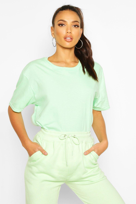 Womens Oversized T-Shirt - Minzgrün - M, Minzgrün - Boohoo.com
