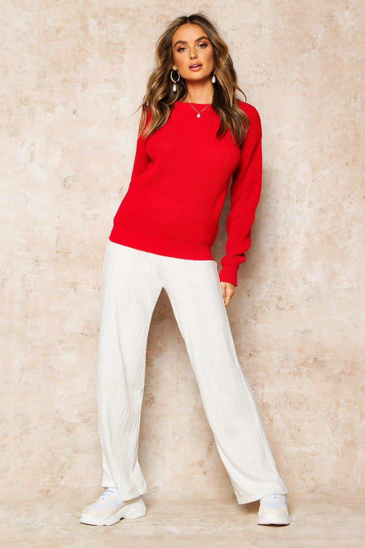 Womens Oversized-Pullover - rot - XS, Rot - Boohoo.com