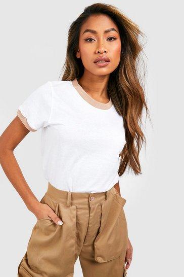 White Ringer T-Shirt